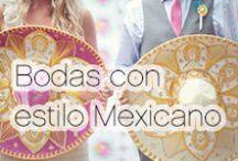 Bodas con estilo mexicano. / Decoración y estilo para una boda con toques mexicanos.