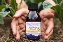 Natural Energy Boost   Natural Fitness / An herbal tonic that combines some of the most widely used adaptogenic herbs to protect your body from the harmful effects of stress. Used as a daily tonic, the formula can help increase energy levels, enhance athletic performance and endurance, improve mental concentration and cognitive function and enhance your experience of general health and well-being.