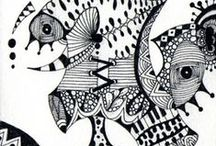 Zentangle Inspired Art / Zentangle inspired art, ideas for zentangle art and patterns. Pen and ink art