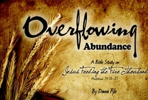 Bible Study: Overflowing Abundance / Six lesson DVD-based Bible study based around Jesus feeding the five thousand. RELEASED ON JUNE 28, 2013 through the LWML. Available here: http://ow.ly/mJG5r