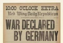 World War I / Historical newspapers from the Newseum collection that discuss World War I  / by NewseumED