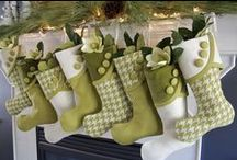 Pretty Christmas Stockings / Ideas  and Inspiration for creating your own Christmas Stockings. / by Matt and Shari