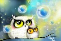 Owls / All things owl..art....photos...draw