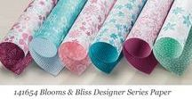 Blooms & Bliss Designer Series Paper / Ideas for using Stampin' Up! Blooms & Bliss Designer Series Paper