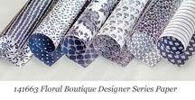 Floral Boutique Designer Series Paper / Ideas for using Stampin' Up! Floral Boutique Designer Series Paper