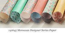 Moroccan Designer Series Paper / Ideas for using Stampin' Up! Moroccan Designer Series Paper