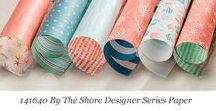 By the Shore Designer Series Paper / Ideas for using Stampin' Up! By the Shore Designer Series Paper