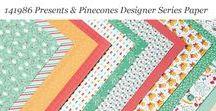 Presents & Pinecones Designer Series Paper / Ideas for using Stampin' Up! Presents & Pinecones Designer Series Paper