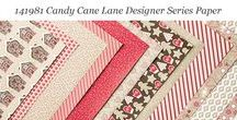 Candy Cane Lane Designer Series Paper / Ideas for using Stampin' Up! Candy Cane Lane Designer Series Paper