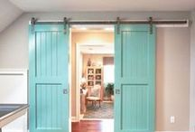 Barn Doors for the Interior / PLEASE - no more than 10 pins per board.  Thank you.  From rustic to contemporary and everything in between.... / by Judy Crovisier