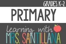 Primary School Ideas K-2 / ideas for primary grades k-2 / by Learning With Mrs. Santillana
