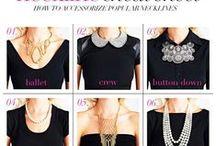 FASHION @ Necklaces / DIY necklaces, pendants, tips, tutorials / by Sue Smith