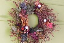 Wreaths, Wreaths & More Wreaths / I would actually Love to make some of these. :)