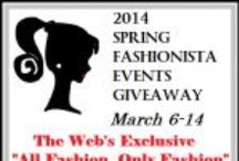 Spring Fashionista '14 Giveaway Event  (March 6-14) / #FashionistaEvents March 6-14 THE largest Fashion Giveaway Event on the Internet. Be sure to stop in and enter all 108 blogs+ and for $26,000+ in prizes.  Grand Prize Sponsor @Covrdperfectly 1st and 2nd Prize Sponsor @MonroeandMain