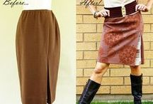 FASHION @ Re-Fashion : Bottoms / upcycle, embellish pants, shorts, skirts / by Sue Smith
