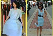 FASHION @ Re-Fashion : Dresses / upcycle, embellish dresses / by Sue Smith