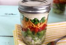 FOOD @ Masons / recipes for salads or meals in mason jars / by Sue Smith