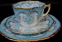 China trios / Porcelain tea cup, saucer and luncheon plate / by Paula O'Hare