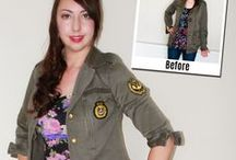 FASHION @ Re-Fashion : Cover-Up / Upcycle/embellish cardigans, vests, jackets, coats, blazers  / by Sue Smith