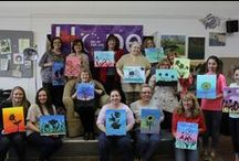 PAINT NIGHT / Adult painting class for beginners. Make your own party. Libations encouraged !