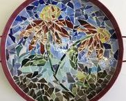 Mosaic Classes / stained glass mosaics created under Gallery 53 instructor Christine Bender Webster
