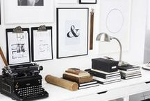 Home Office Design  / simple home office decor, vintage design and inspiration, organizational tips for women in business
