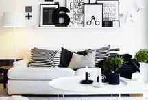 Simple Black + White  / There is something timeless and classy about black and white paired together and I am obsessed with the black and white design style.