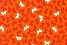 Stofjes Rood Oranje Geel