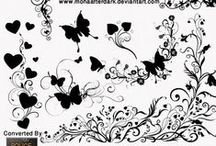 Blog Design Resources / Fonts, Brushes etc used in the blog design