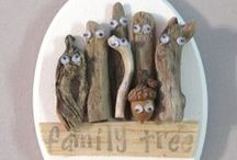 Nature Art - Art created with findings from the Earth - Driftwood; Rocks etc / I love to create things by using items from nature.