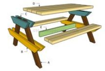 Picnic Table Plans / Easy to follow plans for a picnic table. Build wooden picnic table for your garden, if you want to add value to yoru property.