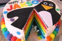 Rainbow Cake / I am happy to share. Please feel free to pin whatever you like with any caption you please. No daily or other limits! / by Mimmi Penguin
