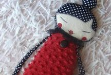 Dolls ~Fabric Art Dolls / Love the variety of Art & Craft Dolls you can make.