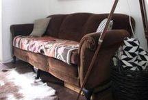 en el sofá