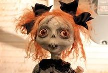 Dolls - Creepy, Scarey, Voodoo; Monsters:Junker Jane / These dolls are mysterious; odd; creepy or very scarey