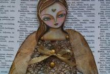 Dolls - Ribbon; Doily; Captured Fairy; Driftwood and Shrinky Dink / This is a board of simple doll ideas to make