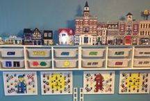 Create: Lego / Lego creations as well as ways to organise Lego at home