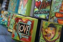 Art Blocks & Mini Canvas / Painted and Mixed Media / by Kathy Skaggs