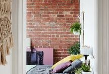 Industrial Warehouse Dream Home / I've always wanted to live in a warehouse styled home. High ceilings, industrial details, over-sized furniture and lighting. Exposed brick, I'm coming for you!