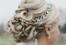 Wedding Hair / Bridal updos, down dos and hair accessory ideas galore…