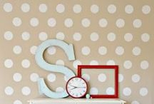 Polka Dot Stencils & Decor / Easily stencil Polka dots in your home! Browse this board for ideas on how to tastefully incorporate stenciled polka dots into your home decor! / by Cutting Edge Stencils