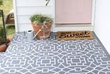Outdoor Stencil Projects / Adding style and pops of color to our outdoor spaces (decks, patios, porches, backyard and more) using stencils! Here are simple stenciling projects to flatter our exterior spaces. / by Cutting Edge Stencils