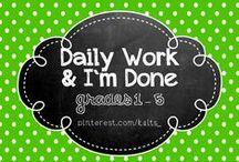 Daily Work / I'm Done (Education)