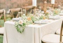 Table Centres / Wedding table centre ideas, including rustic candles and fairylights, show-stopping floral arrangements and unique centerpieces to wow your guests with.