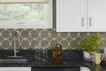 Stenciled & Painted Kitchens / Here are gorgeous stenciled kitchen decorating ideas! Our wall stencils can help you paint a backsplash, create an accent wall or embellish a piece of furniture like a china cabinet. These kitchen makeover ideas using stencil designs are easy and inexpensive! / by Cutting Edge Stencils
