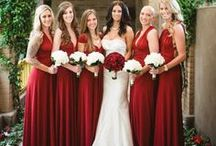 Red Wedding Theme / Romantic, bright and always associated with love –we love red, and not just at Christmas!