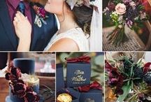 Navy Blue Wedding Theme / A sophisticated alternative to black that looks amazing as a combination colour