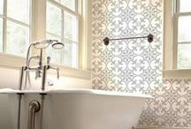 Stenciled & Painted Bathrooms / This board is filled with stenciled bathrooms and bathroom decor. Wall stencils make decorating a bathroom easy and affordable. / by Cutting Edge Stencils