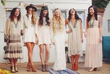 Bohemian Wedding / We love a Bohemian wedding theme! Here are ideas to introduce the boho theme into all your wedding details, from your hairstyle and dress to your reception decorations - you'll find it all here.