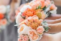 Orange & Coral Wedding Theme / If you love bright oranges and coral colours this board is perfect for you...